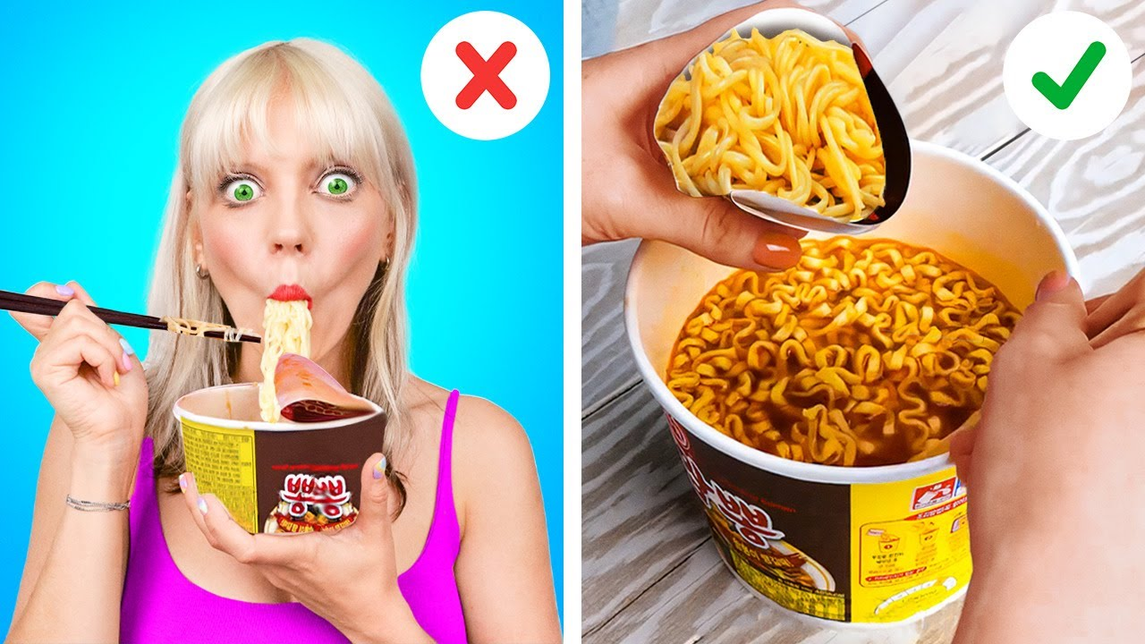 Amazing Food Hacks That Will Change Your Life    How to Eat Your Favorite Food!