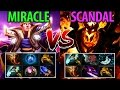 Miracle- [Invoker] vs Scandal [shadow fiend] Dota2 Hard Game- It's A miRATcle