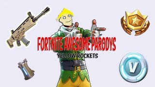 """Rockets Yellow"" Cardi B - Bodak Yellow (Fortnite Song Parody)"