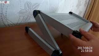 Распаковка и обзор подставки для ноутбука / Adjustable Portable Laptop Table Stand<