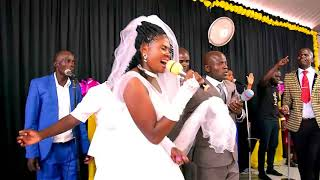 You won't believe what this couple did on their wedding day