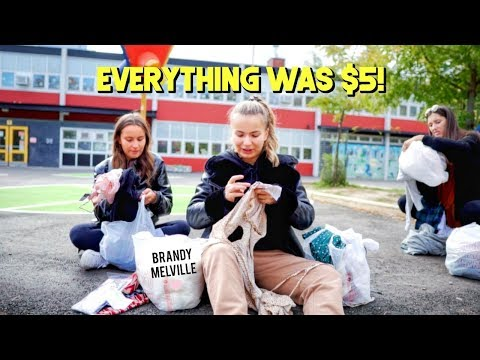 We Survived The Brandy Melville WAREHOUSE SALE... ☆ Vlog + Haul