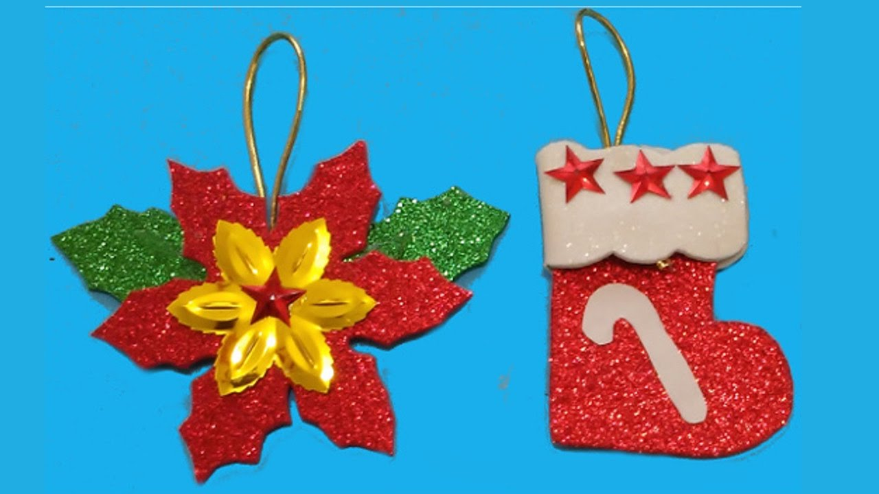 Flor de nochebuena y bota navide a manualidades de lina for Adornos con plantas de nochebuena
