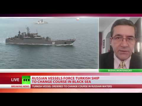 Russian coast guard force Turkish ship to change course in Black Sea