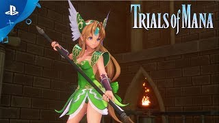 Trials of Mana | Character Spotlight Trailer: Hawkeye and Riesz | PS4
