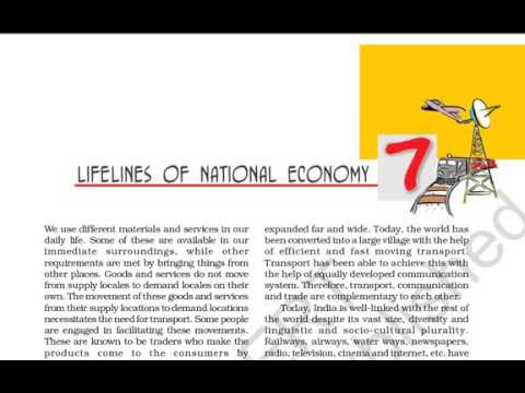 Class 10 Lifelines Of National Economy Part 1 In Hindi