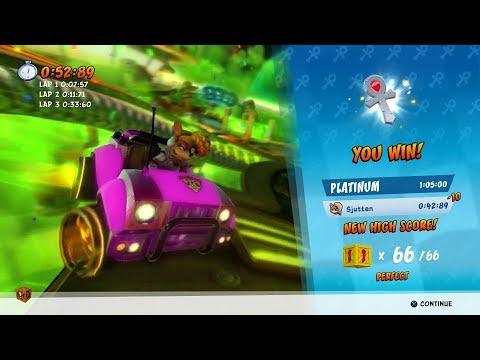 CTR Nitro Fueled - Drive-Thru Danger - Platinum Relic (All Boxes)