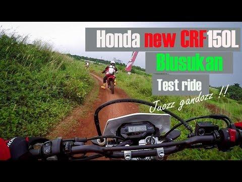 Blusukan nunggang Honda new CRF150L, suspensi USD-nya kenyot-kenyot !
