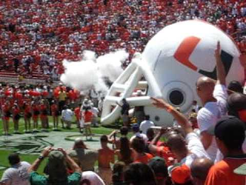 Miami Hurricanes World Famous Entrance
