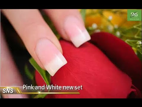 SNS Nail: How to Do Pink & White Dipping Powder Nail Design