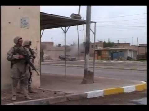 Combat Camera: Marines Enter Fallujah, Firing M-203 Grenade Launchers (2004) | AiirSource
