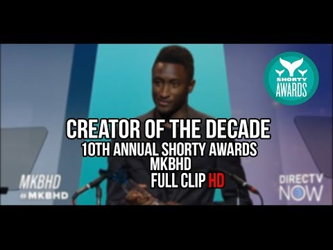 10th Annual Shorty Awards Creator of The Decade Award MKBHD