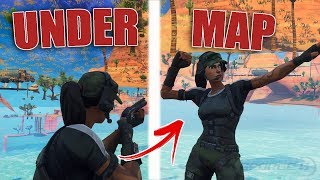 *STILL WORKING* Under Map Glitch In Fortnite | How To Get *FULLY* Under The Map | FORTNITE GLITCHES