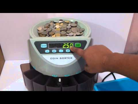 Table-Top Coin Counting Machine