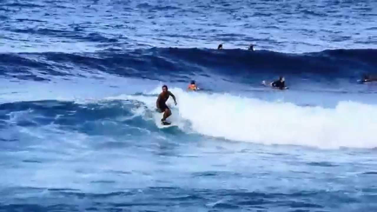 surfing in bathsheba barbados - youtube