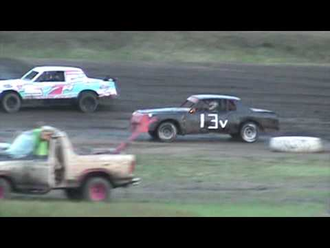 Factory stock heat race At Caney Valley Speedway 7/22/17