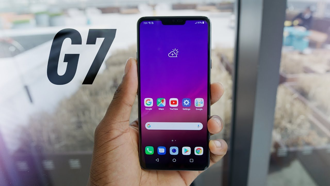 LG G7 ThinQ G710VM 64GB Unlocked Smartphone-Black-Excellent