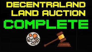 Second Decentraland Land Auction Complete! 9,331 Lands Sold | 109.5M Mana burnt!