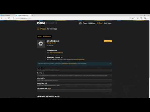 How to create Vimeo personal access token
