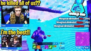 MONGRAAL *INSANE* ELIMS TFUE, BUGHA, & BENJYFISHY in Fortnite World Cup Game 4