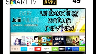 Samsung joiiii smart tv 5300 | Unboxing setup and review | 2017 |
