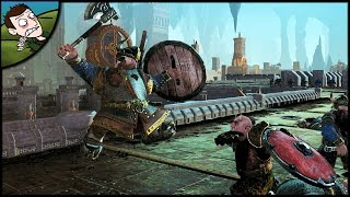 MASSIVE CHAOS DWARF SIEGE BATTLE - Total War WARHAMMER Mod Gameplay