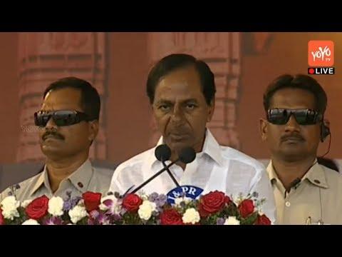 CM KCR Live from Warangal | KAKATIYA Mega Textile Park Stone Laying Ceremony | Public Meeting | YOYO