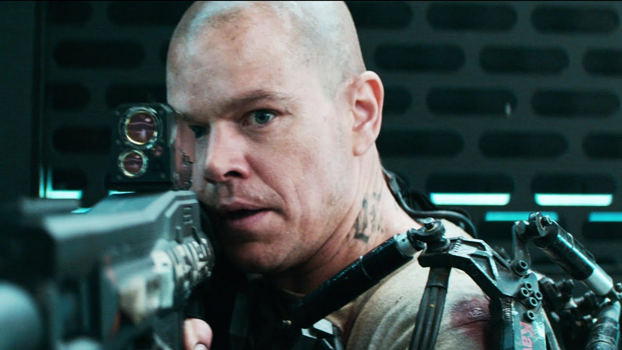 Elysium Trailer #2 2013 Official - Matt Damon Movie [HD ... Matt Damon Movies List