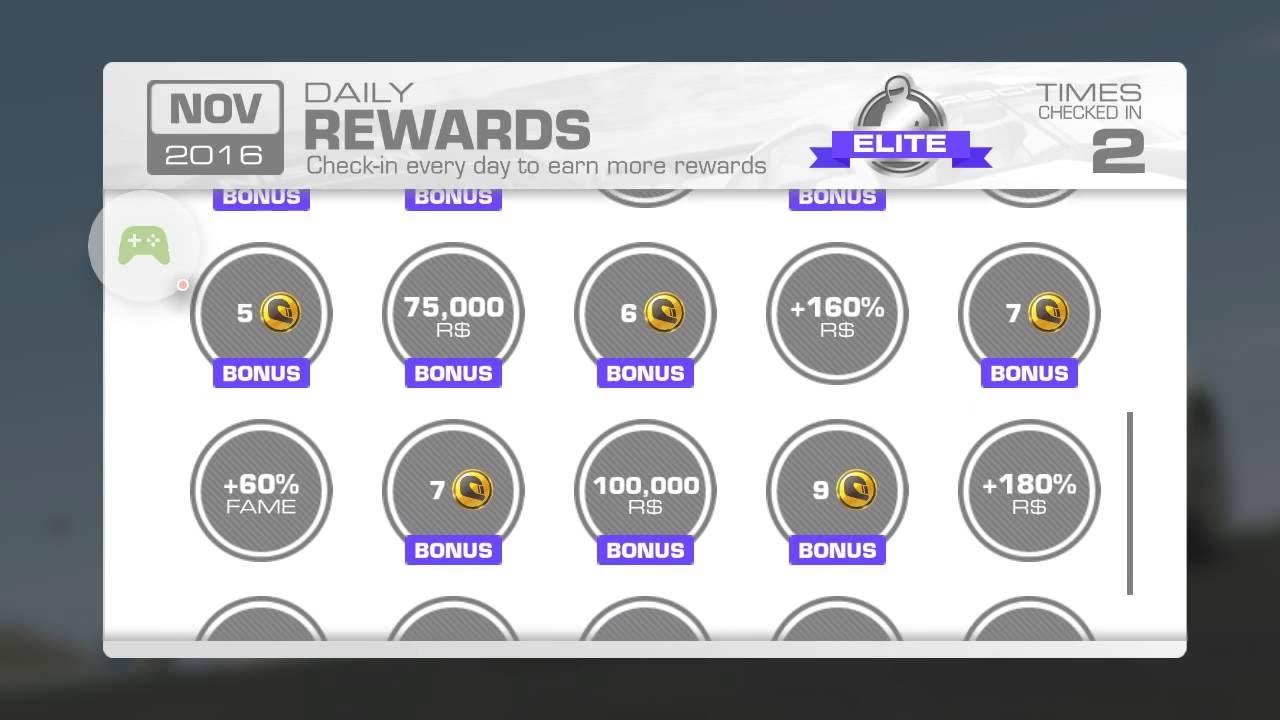 Real Racing 3 DAILY REWARDS - November 2016 - YouTube