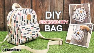DIY CROSSBODY BAG | Casual Shoulder Bag Sewing Pattern & Tutorial [sewingtimes]