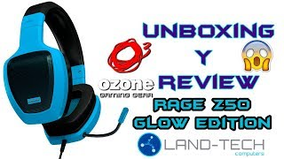UNBOXING y REVIEW Headsets OZONE RAGE Z50 Glow Edition! :D
