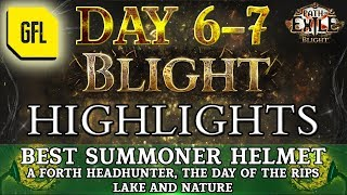 Path of Exile 3.8: BLIGHT DAY # 6-7 Highlights BEST SUMMONER HELMET, DAY OF THE RIPS