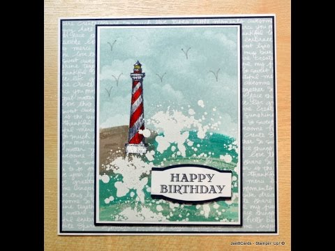 Stormy Lighthouse - JanB UK Stampin' Up! Demonstrator Independent