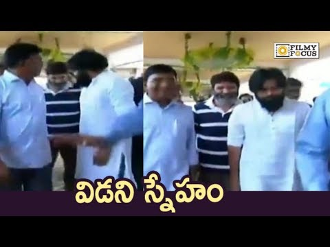 Pawan Kalyan and Trivikram Srinivas at Ramoji Rao Grand Daughter Marriage - Filmyfocus.com