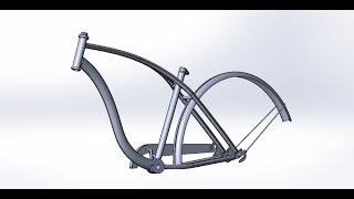 [7]. Велосипед Schwinn Cruiser One (Рама). SolidWorks. Часть 1.(Моделирование рамы велосипеда Schwinn Cruiser One., 2016-04-25T14:02:01.000Z)