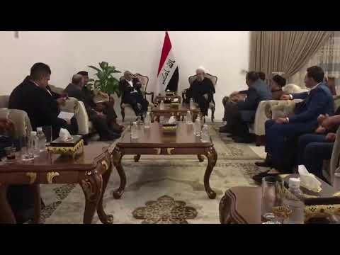 فيديو مسرب قد يطيح بالحكومة بعد كشفه المستور.. عبد المهدي في اجتماع مع عبد الكريم خلف وقادة سياسيين