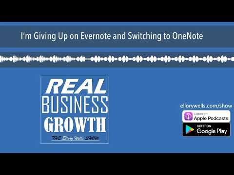 I'm Giving Up on Evernote and Switching to OneNote