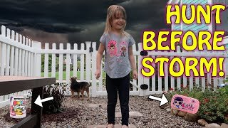 SCAVENGER HUNT BEFORE IT THUNDERSTORMS!! - L.O.L. Surprise & Poopsie Slime Surprise