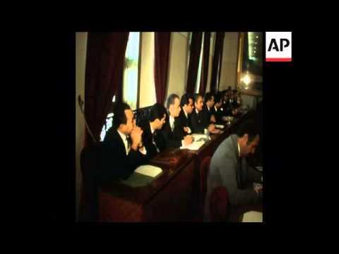LIB 2-2-74 PRIME MINISTER OF TUNISIA, HEDI NOUIRA, SPEECH