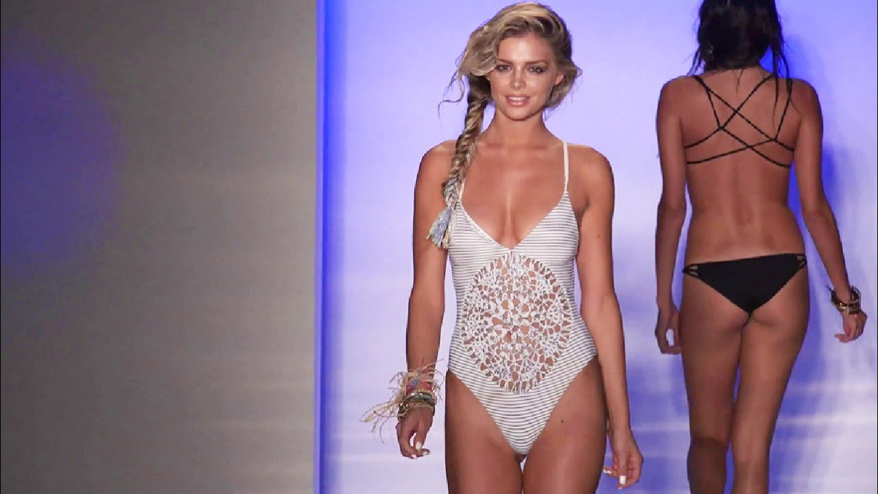 Miami Bikini Swim Fashion Week ☆ Mercedes Benz Spring Summer Runway Show #2    YouTube