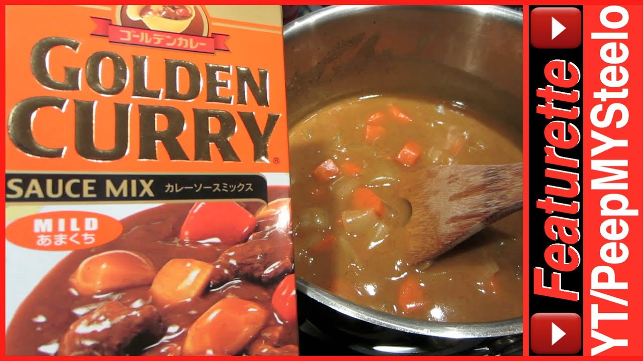 Golden Curry Japanese Curry Recipe Sauce Mix W Instructions Beef Or Chicken To Pork Cutlet On Rice Youtube