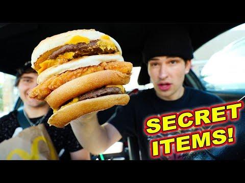 TRYING FAST FOOD SECRET MENU ITEMS
