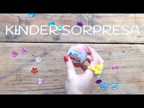 Lo pasamos genial con los huevos kinder sorpresa y nuestros anillos mágicos