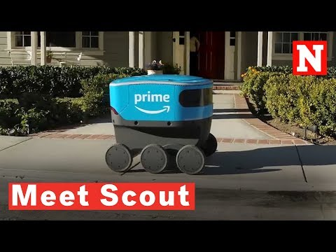 Amazon Debuts Its New, Cute Autonomous Delivery Robot Named Scout