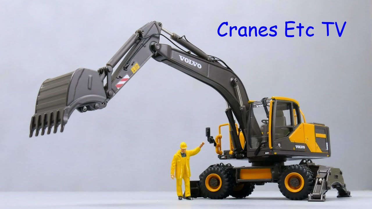 motorart volvo ew180e wheeled excavator by cranes etc tv. Black Bedroom Furniture Sets. Home Design Ideas