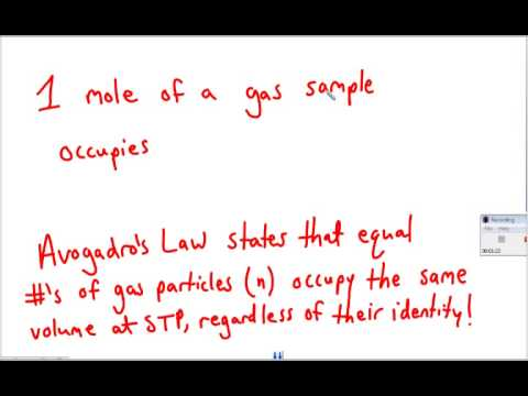 Weather Lesson 16 Tutorial - STP & Avogadro's Law
