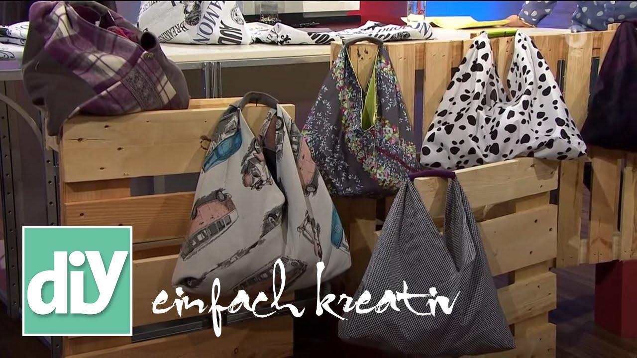 Einkaufsbeutel In Origami Falttechnik Diy Einfach Kreativ Youtube