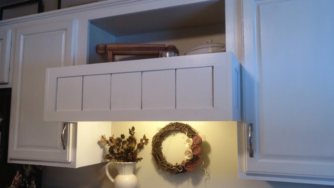 Build A Custom Cover For Range Hood Diy Home Guidecentral You
