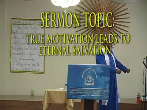 TRUE MOTIVATION LEADS TO ETERNAL SALVATION PREVIEW