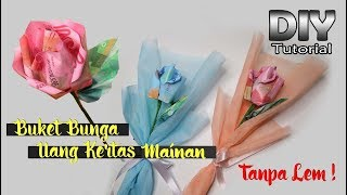 IDE KREATIF DIY - Single Bouquet   Mawar dari uang kertas mainan   Kerajinan tangan   Tugas sekolah